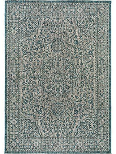 Benuta In- & Outdoor-Teppich Cleo Blau 240x340 cm - Outdoor-Teppich für Balkon & Garten
