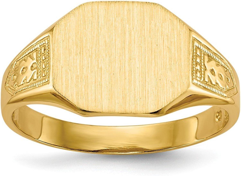 Beautiful Yellow gold 14K Yellowgold 14k Signet Ring Open Back