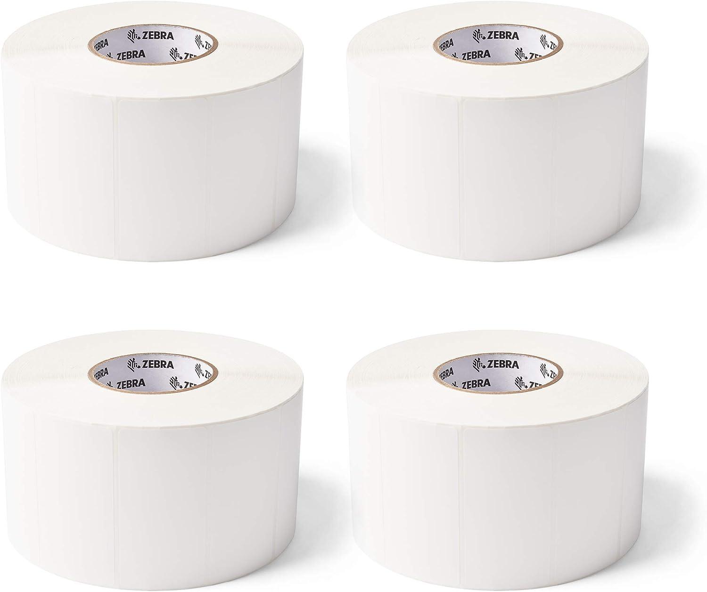 Zebra 4 x 2 in free Attention brand Thermal PolyPro Labels 300 Transfer Polypropylene