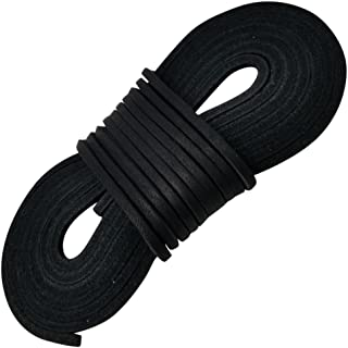 black leather shoe laces