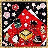 《ネコポス対応》(キステ)Kisste 四季彩布 12ヶ月の季節柄小風呂敷 5-4-00081 【No.2】節分