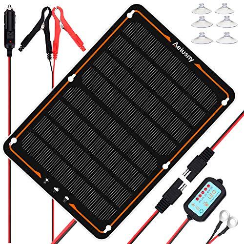Aeiusny 10W 12V Solar Panel Car Battery Charger,Portable...
