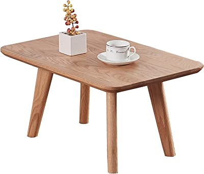 XKun Japanese Bedroom/Living Room All Solid Table Square Low Table Small Apartment Dining Table (Size: 60X40X30cm)