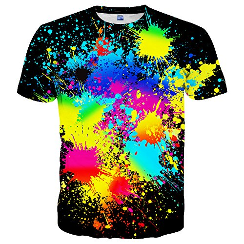 Hgvoetty Graphic Tees for Men Women Colorful Painting Design XX-Large