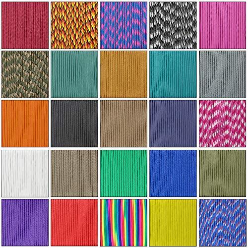 Cuerda de nailon de aufodara, cuerda de supervivencia de 4 mm, 7 núcleos, cuerda multiusos, para exterior, pulsera, llavero, colgante para mascotas, collar, Rosa., 49 ft / 15 meter