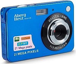 "AbergBest 21 Mega Pixels 2.7"" LCD Rechargeable HD Digital Camera Video Camera Digital Students Cameras,Indoor Outdoor for ..."