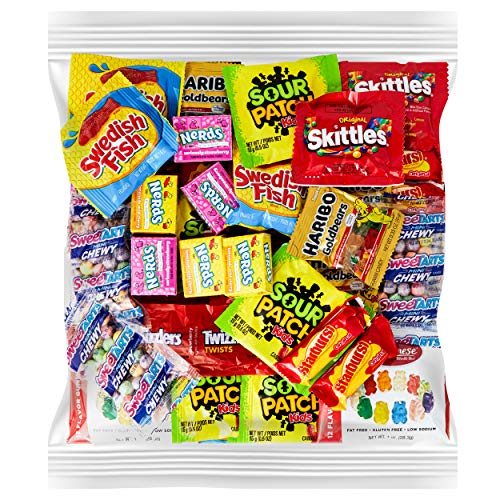 Your Favorite Party Candy - 2 Full Pounds of Sour Patch, Swedish Fish, Haribo & Albanese Gummy...