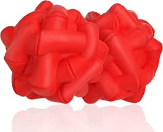 Durable-Dog-Balls-Chew-Toys, Natural Rubber Bounce Balls, Great for Outdoors Training or Fetch Game, 2.4 Inch, Pack of 2