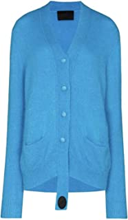 GFBVC Cárdigan De Mujer Otoño e Invierno Temperamento Delgado Temperamento Azul Cardigan Mujeres Suéter Chal Abierto (Colo...
