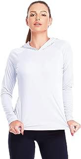 Womens UPF 50+ UV Sun Protection Running Hiking Outdoors Performance Long Sleeve Hoody SPF T-Shirt