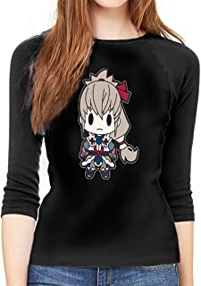 136aaaa46aa59 ETGBFHRDH T-Shirt à Manches Longues pour Femme, emblème du feu Fates Takumi  à