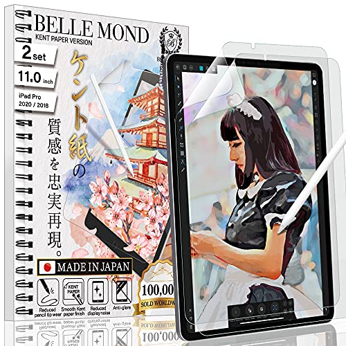 BELLEMOND 2 Stück Japanische Glattes Kent Paper Schutzfolie für iPad Pro 11