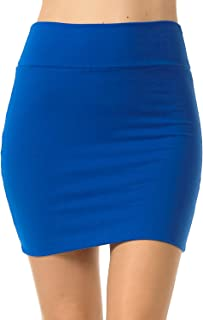 Fashion Aktiv Basic Double-Layer Cotton Simple Stretchy Tube Pencil Mini Skirt