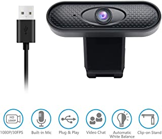 【8~12 Days DELIVERY】 1080P Full HD Webcam with Mic, Quick Focus, Computer Camera for Online Video Education, Portable Camera, USB PC Webcam for Video Call, Recording, Meeting, Games