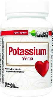 Nature's Wonder Potassium 99mg Tablets, 120 Count