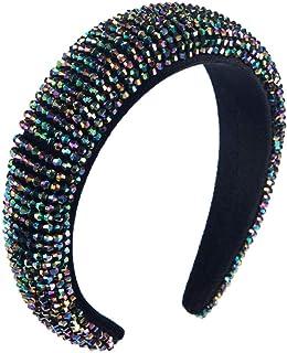 headbands, Beaded Thick Sponge Headband For Woman Hand Made Full Colorful Wide Hair Hoop Brida Wedding Tiaras Crowns Width...