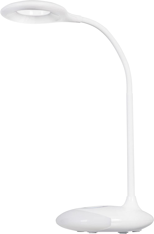 ActiveJet LED desk lamp Plastik Plastik Plastik Integriert, 4 W, Weiß 12 x 12 x 30 cm B06XPF4LKZ  | Günstig  48c440