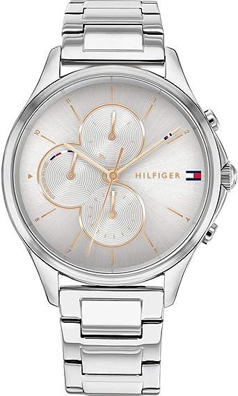 Tommy Hilfiger Reloj Analógico para Mujer de Cuarzo con Correa en Acero Inoxidable 01782263