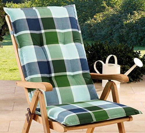 Schwar Textilien Gartenstuhlauflagen Sitzauflagen Auflage für Hochlehner Grün Blau UVP 19,95