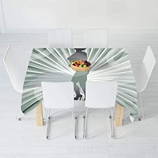 Dust-Proof Tablecloth,Apartment Decor,for Kitchen Dinning Tabletop Decoration,40.2 X 20.1 Inch,an Afro American Woman in High Heels