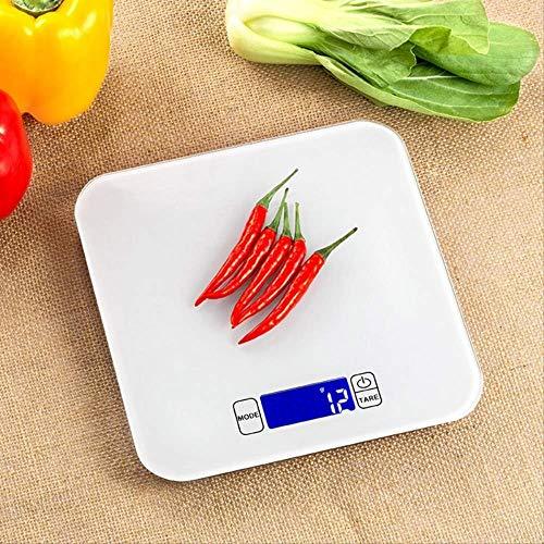 Balance de cuisine numérique sans marque, multifonction, écran LCD, mesure liquide, verre trempé, étanche 20 x 20 cm, noir, blanc, 20x20cm