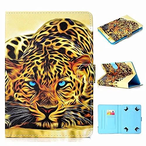 Funda universal para tablet de 10 pulgadas, con soporte universal para Tab de 10', diseño de leopardo y tigre