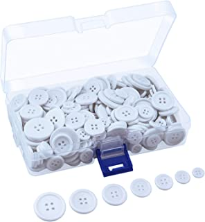 GANSSIA 7//8 Inch Button 22.5mm Buttons Sewing Color White Pack