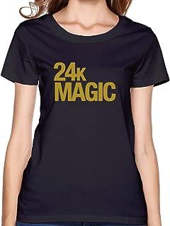 Bruno 24K Magic Crew Neck T-Shirt Black for Women