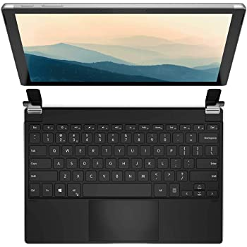 Brydge 12.3 Pro+ Wireless Keyboard with Precision Touchpad | Compatible with Microsoft Surface Pro 7, 6, 5 & 4 | Designed for Surface | (Silver)