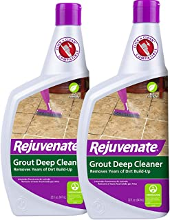 Rejuvenate Grout Deep Cleaner Safe Non-Toxic Cleaning Formula Instantly Removes Years of Dirt Build-Up to Restore Grout to The Original Color (32oz 2 Pack)
