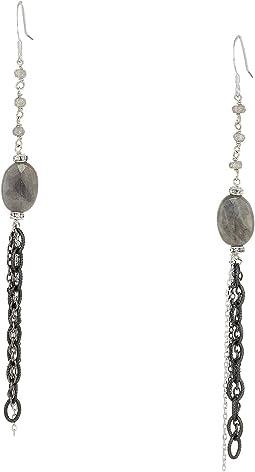 Gemstone Labradorite Dangle Earrings
