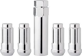 DPAccessories LCS4N2HC-CH04LK4 Chrome Wheel Locks 1/2-20 Closed End XL Spline Tuner Locking Lug Nuts - Dual Hex Wheel Lock Set