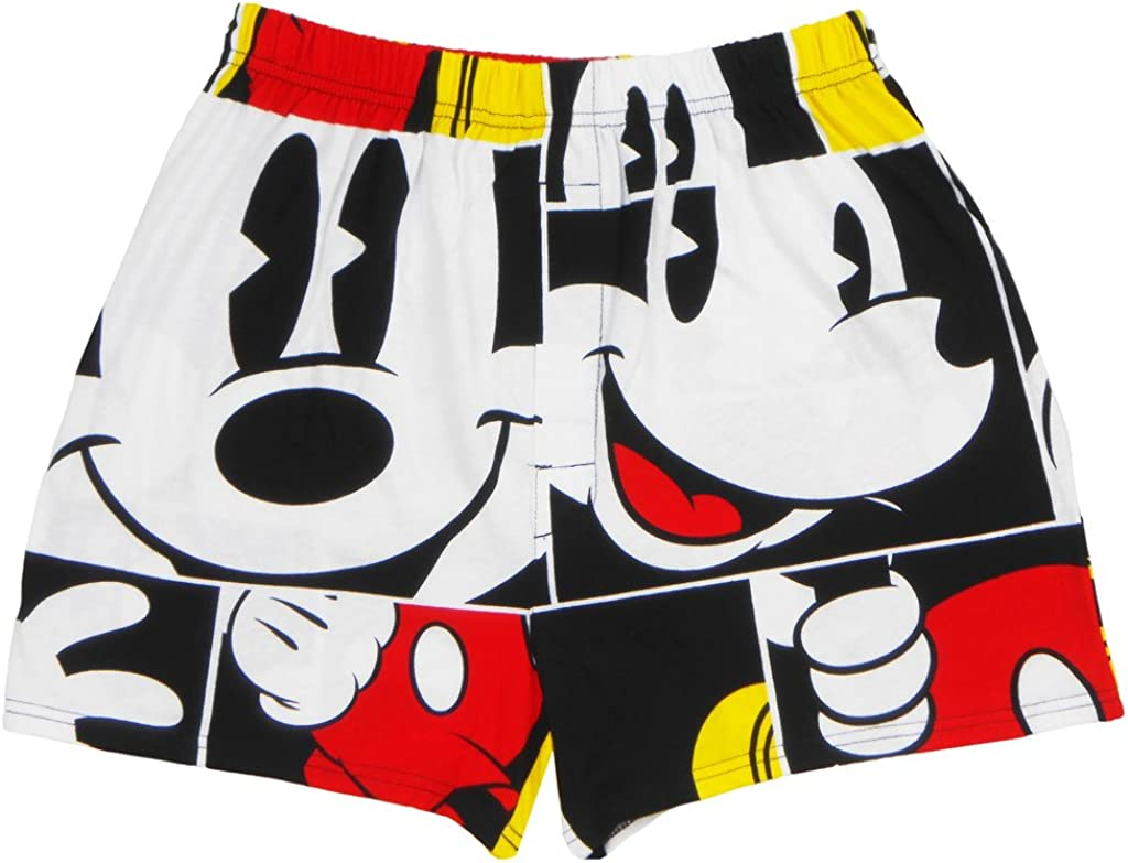 Disney Mickey Mouse Boxer All Over Print Adult Mens Red