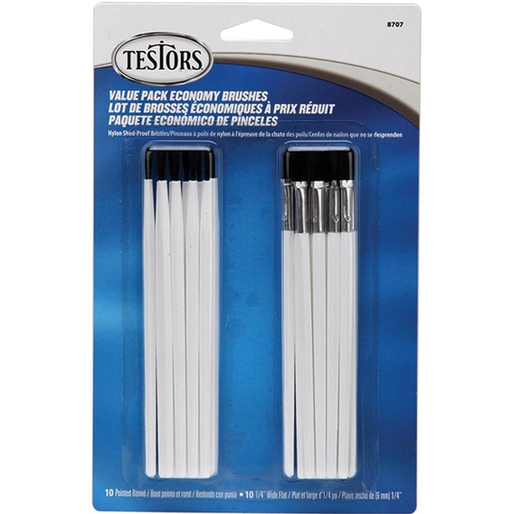 Testor Corp. Economy Brushes 20/Pkg-10 Round & 10 Flat ntidjqs803089