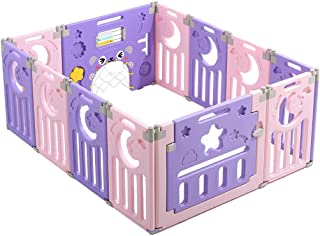 Relaxbx Baby Play Fence  Children S Fence  Indoor Baby Plastic Safe Home Crawling Toddler Baby Indoor Playground