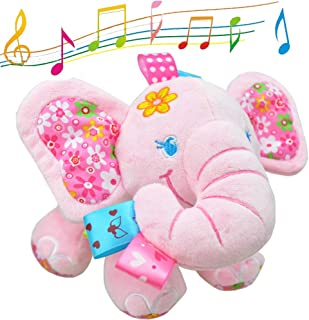 V Convey Music Bed Time Elephant Stuffed Animal Toys Kids Toddler Plush Baby Infant Strollers Crib Bedding Toys