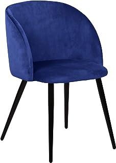 La Silla Española Daroca Silla, Telas, Azul índigo, 51,5cm (Ancho) x 56,5cm (Fondo) x 88,5cm (Alto)
