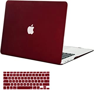 MOSISO MacBook Air 13 Inch Case (Models: A1369 & A1466, Older Version 2010-2017 Release), Plastic Hard Shell Case & Keyboard Cover Skin Only Compatible with MacBook Air 13 Inch, Marsala Red
