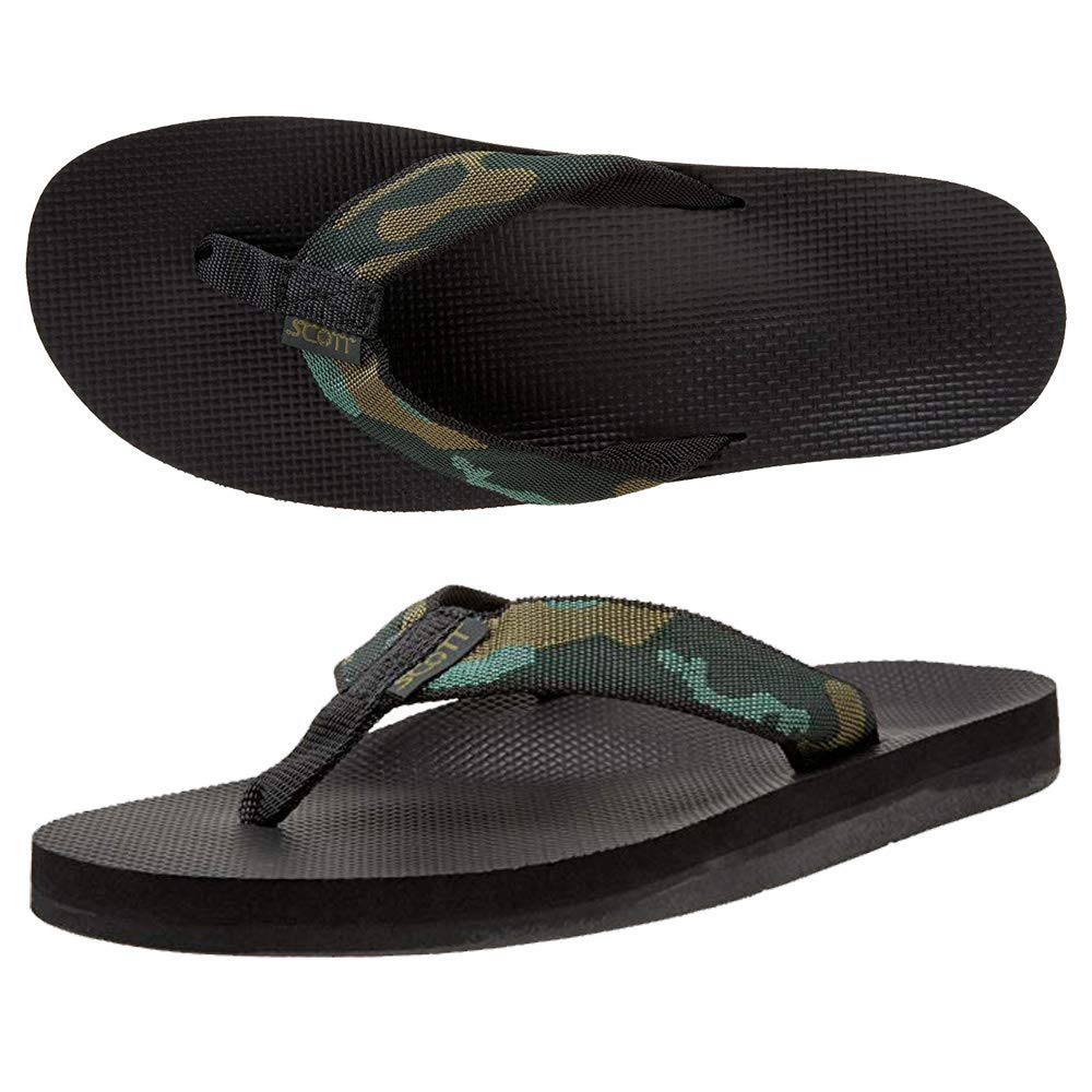 Size 11 Camouflage Flip-Flops
