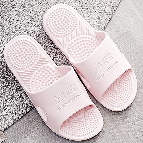 WENHUA Pantuflas Suaves de baño de Verano para Mujer, Pink_36-37