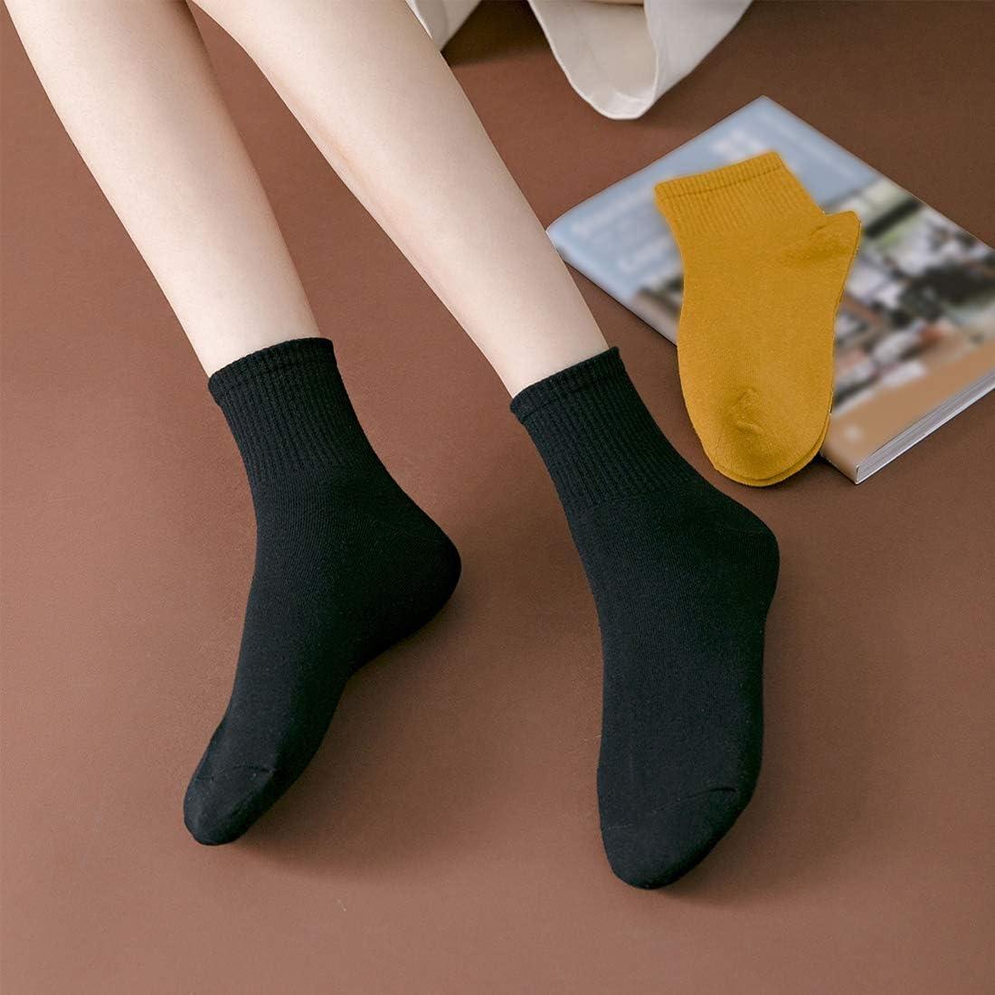Hamjax 3 Pairs Womens Casual Socks Cotton Sneaker Socks Ankle Socks