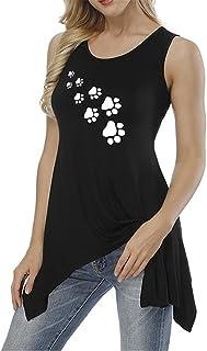 MIOIM Tシャツ レディース 半袖 猫柄 足跡 ハート型 カットソー スポーツ 吸水速乾 無地 おしゃれ ゆったり カジュアル 通勤 通学 普段着 トップス