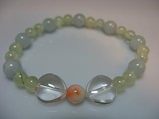 爽やか色のパワーストーンと珊瑚のかわいい数珠