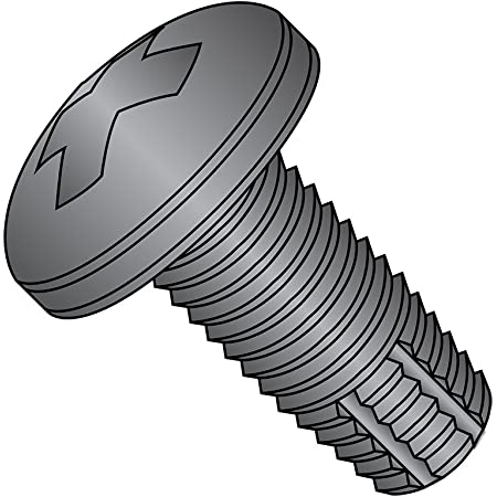 Steel Thread Rolling Screw for Metal Pan Head 3//16 Length Zinc Plated #2-56 Thread Size Pack of 100 Phillips Drive