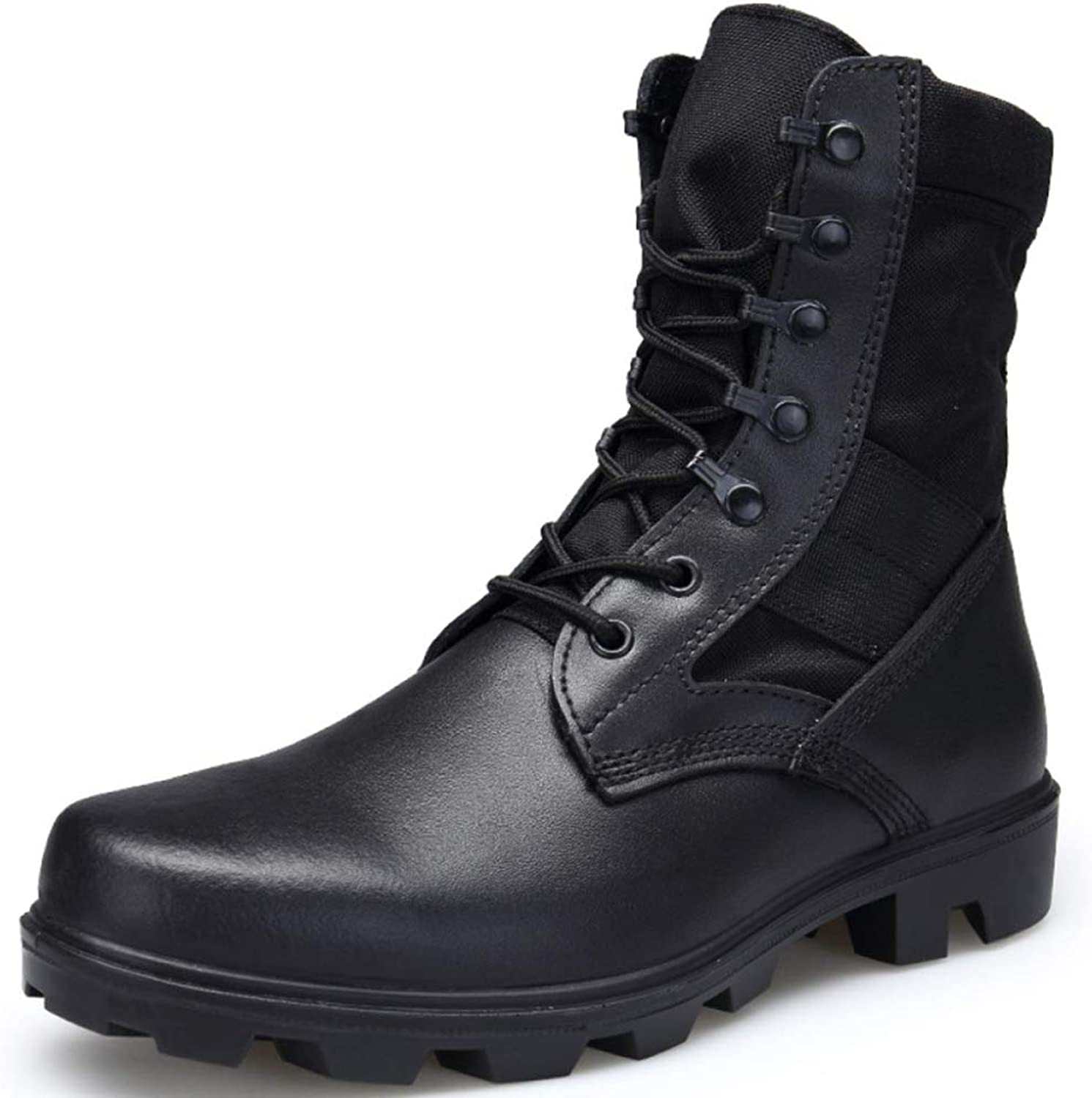 Mens Leather shoes Vintage Martin Boot Outdoor Desert Military Combat Boots Army Armed Tactics shoes Special Forces Footwear