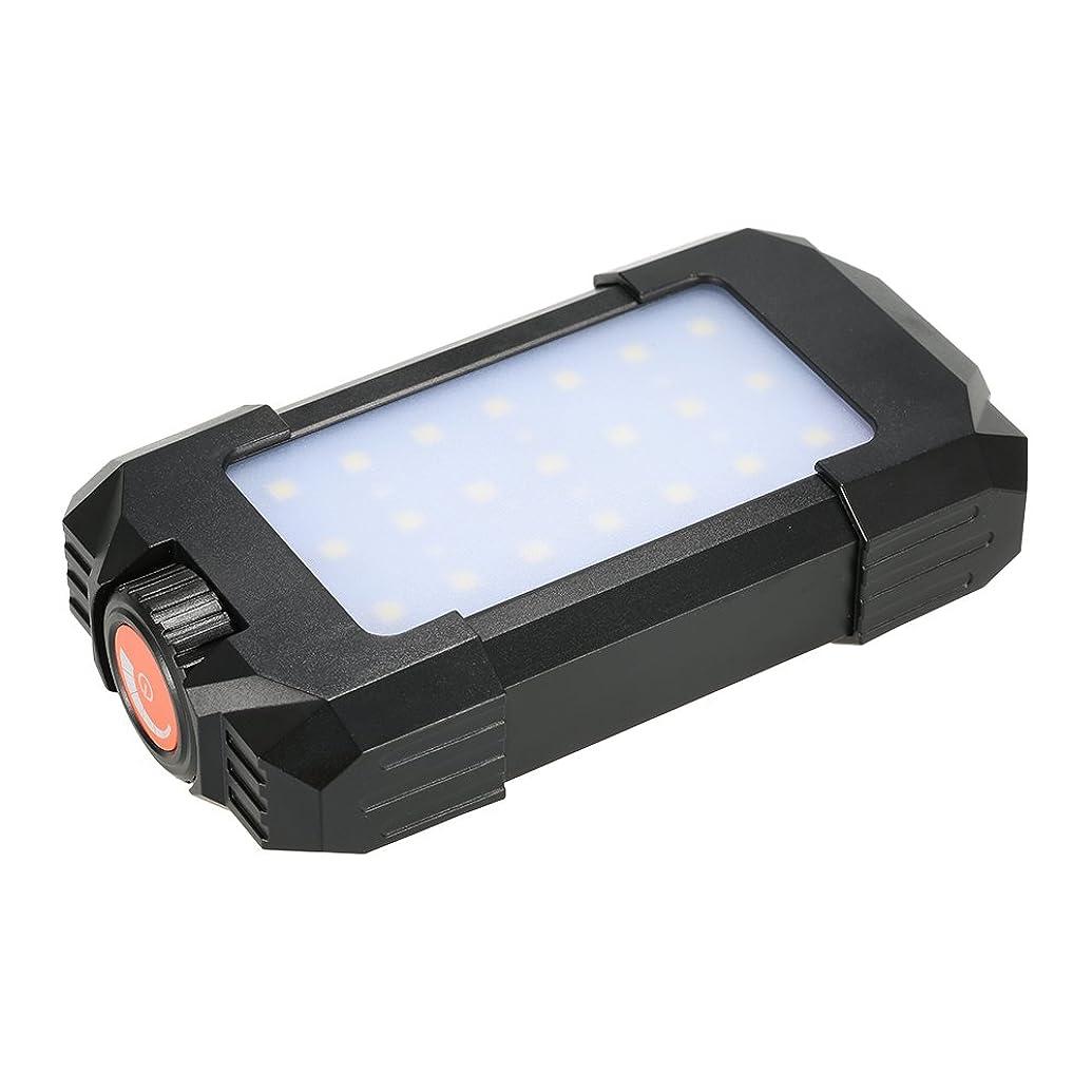 味ボードアウターLixada 27 LEDランタンランプ 500LM アウトドア 再充電可能 ポータブル フラッシャー 緊急/ハイキング/キャンプ/旅行用 USB入力出力 モバイルコンパス/温度計内蔵