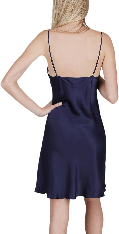 OSCAR ROSSA Womens Luxury Silk Sleepwear Delicate Hand Crafted V Neck 100/% Silk Slip Chemise Nightgown
