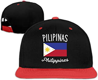 Mens and Womens Philippines Flag Baseball Hat Athletic Cotton Cabbie Cap