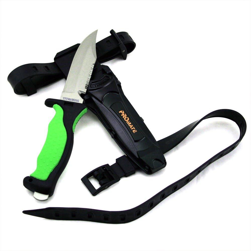 Promate Scuba Dive Snorkel Titanium Arlington Mall Knife 4 Blade 3 with 8