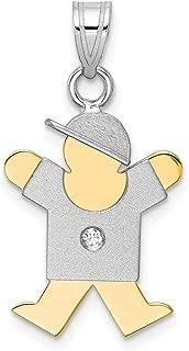 Lex & Lu 14k Two-Tone Gold AA Diamond Kid Pendant LALXK504AA